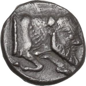 obverse: Gela. AR Obol, 480-470 BC