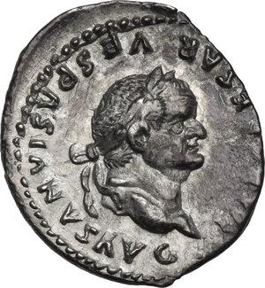 obverse: Vespasian (69-79 AD.).AR Denarius, 75 AD, Rome mint