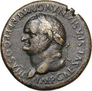 obverse: Vespasian (69-79 AD).Æ Sestertius, Rome mint, 77-78 AD