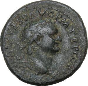 obverse: Titus (79-81).AE As, 79 AD