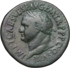 obverse: Titus (79-81 AD). AE Sestertius, circa 80 AD