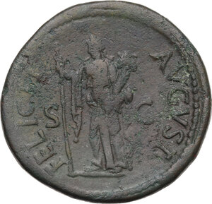 reverse: Titus (79-81 AD). AE Sestertius, circa 80 AD