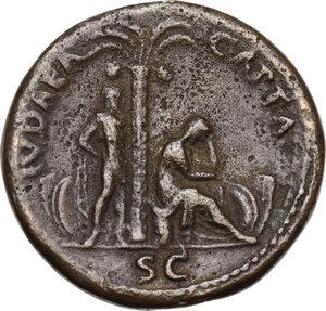 """reverse: Titus (79-81).AE Cast """"Sestertius"""". Paduan type"""