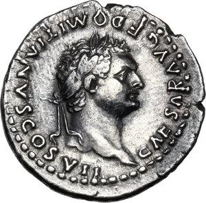 obverse: Domitian as Caesar (69-81).AR Denarius, 80 AD