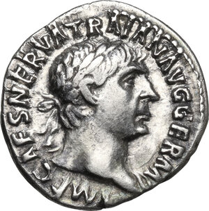 obverse: Trajan (98-117 AD).AR Denarius, 101-102 AD