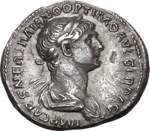 obverse: Trajan (98-117).AR Denarius, 114-117 AD
