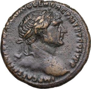 obverse: Trajan (98-117 AD).AE As, 103-111 AD