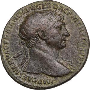 obverse: Trajan (98-117 AD).AE Dupondius, Rome mint, c.104-107 AD