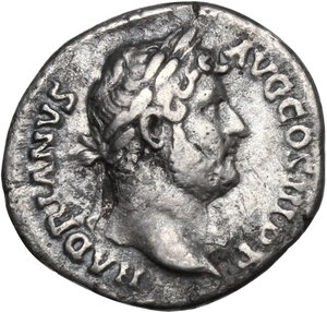 obverse: Hadrian (117-138).AR Denarius, 134 - 138 AD