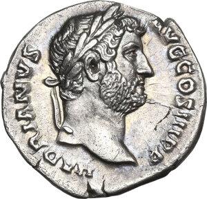 obverse: Hadrian (117-138).AR Denarius, Rome mint, 137-July 138 AD
