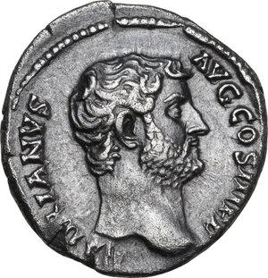 obverse: Hadrian (117-138).AR Denarius, Rome mint, 136 AD