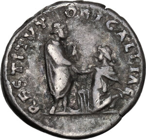 reverse: Hadrian (117-138).AR Denarius, 134-138 AD