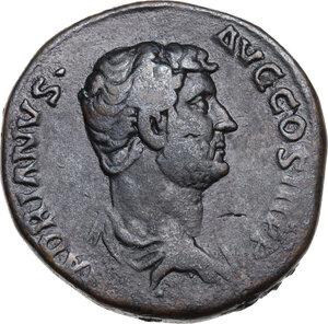 obverse: Hadrian (117-138).AE Dupondius, 134-138 AD