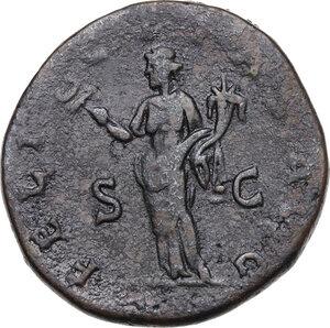 reverse: Hadrian (117-138).AE Dupondius, 134-138 AD