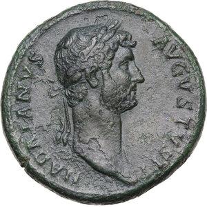 obverse: Hadrian (117-138).AE Sestertius, struck circa 128-132 AD