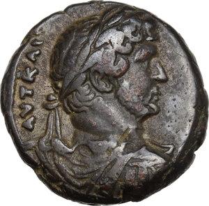 obverse: Hadrian (117-138).BI Tetradrachm, Alexandria mint, Egypt. Dated year 14=129/30 AD