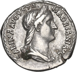 obverse: Sabina, wife of Hadrian (died 137 AD).AR Denarius, Rome mint