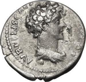 reverse: Antoninus Pius with Marcus Aurelius as Caesar (139-161).AR Denarius, 140-144 AD