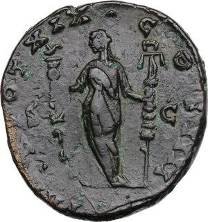 reverse: Antoninus Pius (138-161).AE Sestertius, 155-156 AD
