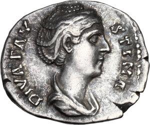 obverse: Faustina I, wife of Antoninus Pius (died 141 AD).AR Denarius, Rome mint