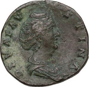 obverse: Faustina I, wife of Antoninus Pius (died 141 AD).AE Sestertius, Rome mint