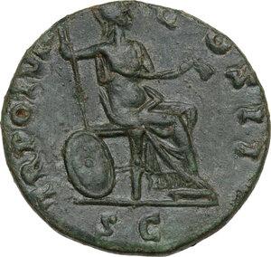reverse: Marcus Aurelius as Caesar (139-161).AE Sestertius, 153-154 AD