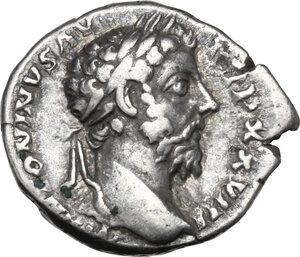 obverse: Marcus Aurelius (161-180).AR Denarius, 173-174 AD