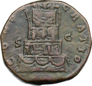 reverse: Marcus Aurelius (Divus, died 180 AD).AE Sestertius, struck under Commodus, 180 AD