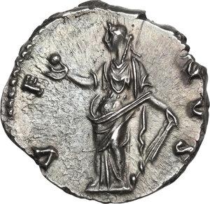 reverse: Faustina II, wife of Marcus Aurelius (died 176 AD).AR Denarius, struck under Antoninus Pius, 147-150 AD