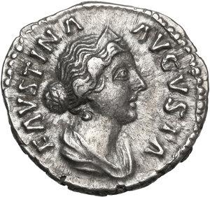 obverse: Faustina II, wife of Marcus Aurelius (died 176 AD).AR Denarius, struck under Marcus Aurelius, circa 165-170 AD