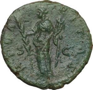 reverse: Faustina II, wife of Marcus Aurelius (died 176 AD).AE As, struck under Marcus Aurelius