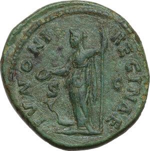 reverse: Faustina II, wife of Marcus Aurelius (died 176 AD).AE Dupondius, struck under Marcus Aurelius