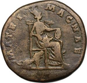 reverse: Faustina II, wife of Marcus Aurelius (died 176 AD).AE Sestertius, struck under Marcus Aurelius