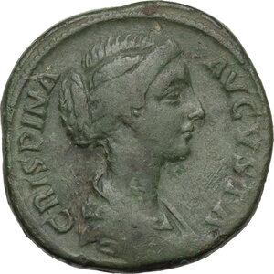 obverse: Crispina, wife of Commodus (died 183 AD).AE Sestertius, c.178-180 AD