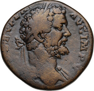 obverse: Septimius Severus (193-211).AE Sestertius, 195 AD