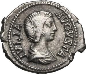 obverse: Iulia Domna, wife of Septimius Severus (died 217 AD).AR Denarius, struck under Septimius Severus