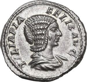 obverse: Julia Domna, wife of Septimius Severus (died in 217 AD).AR Denarius, struck under Caracalla, 211-217 AD