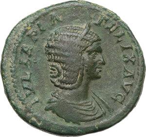 obverse: Julia Domna, wife of Septimius Severus (died 217 AD).AE Sestertius, struck under Caracalla (211-215 AD)