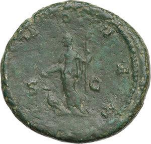 reverse: Julia Domna, wife of Septimius Severus (died 217 AD).AE Sestertius, struck under Caracalla (211-215 AD)
