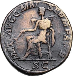 reverse: Julia Domna, wife of Septimius Severus (died 217 AD).AE Sestertius, struck under Caracalla, c.211-217 AD
