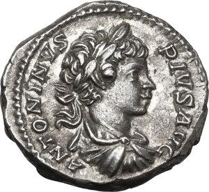 obverse: Caracalla (198-217). AR Denarius, 201 AD