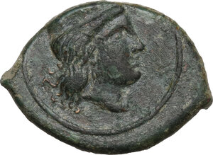 obverse: Himera (as Thermai Himerenses). AE 12 mm, c. 407-406 BC