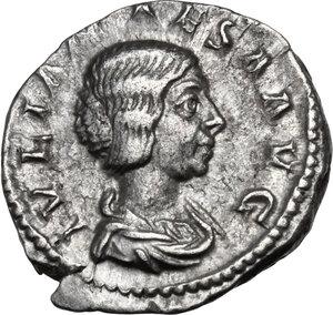 obverse: Julia Maesa, sister of Julia Domna (died 224 AD).AR Denarius, struck under Elagabalus