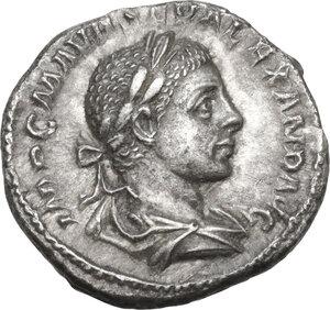 obverse: Severus Alexander (222-235 AD).AR Denarius, 223 AD