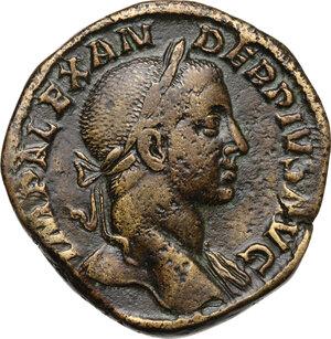 obverse: Severus Alexander (222-235 AD).AE Sestertius, 231 AD