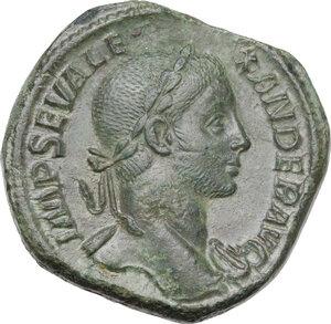 obverse: Severus Alexander (222-235 AD). AE Sestertius, 230 AD