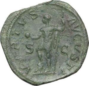 reverse: Severus Alexander (222-235 AD). AE Sestertius, 230 AD