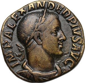 obverse: Severus Alexander (222-235 AD).AE Sestertius, 231-235 AD