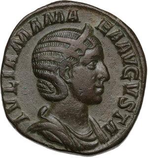obverse: Julia Mamaea, mother of Severus Alexander (died 235 AD).AE Sestertius