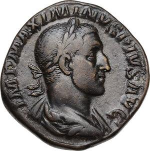 obverse: Maximinus I (225-238).AE Sestertius, Rome mint